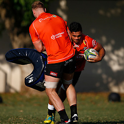 DURBAN, SOUTH AFRICA - MAY 21: Luke Stringer of the Cell C Sharks during the Cell C Sharks training session at Jonsson Kings Park on May 21, 2019 in Durban, South Africa. (Photo by Steve Haag/Gallo Images)