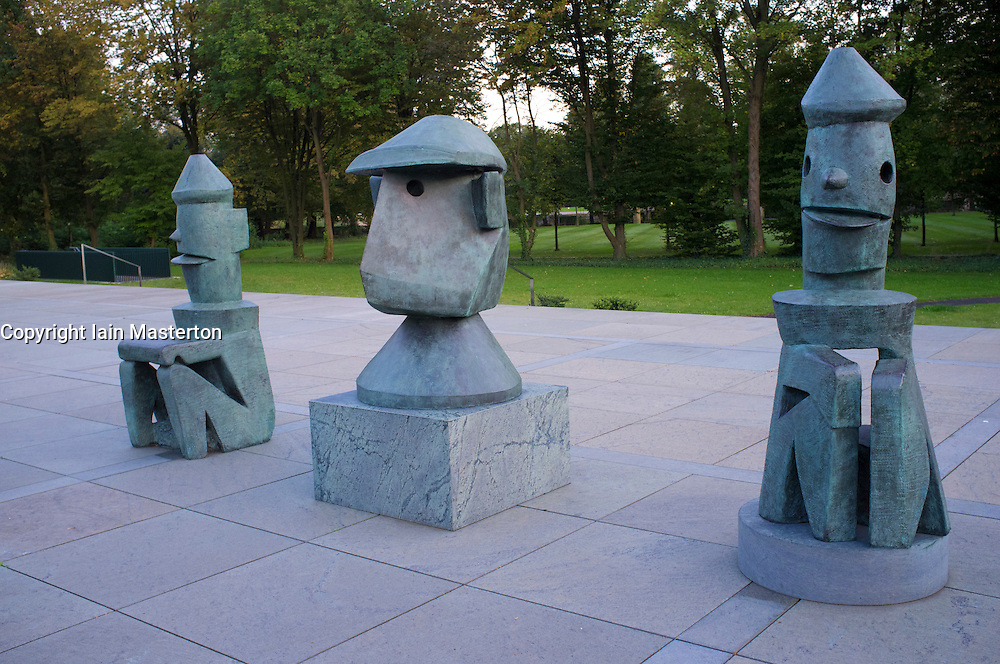 Sculptures at Max Ernst Museum in Bruhl Germany