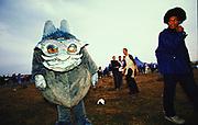 Person in a costume Creamfields 2000