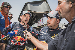 Sebastien Loeb (FRA) of PH Sport at the finish line of the Rally Dakar 2019 in stage Pisco to Lima, Peru on January 17, 2019. // Flavien Duhamel/Red Bull Content Pool // AP-1Y5HCGRP52111 // Usage for editorial use only // Please go to www.redbullcontentpool.com for further information. //