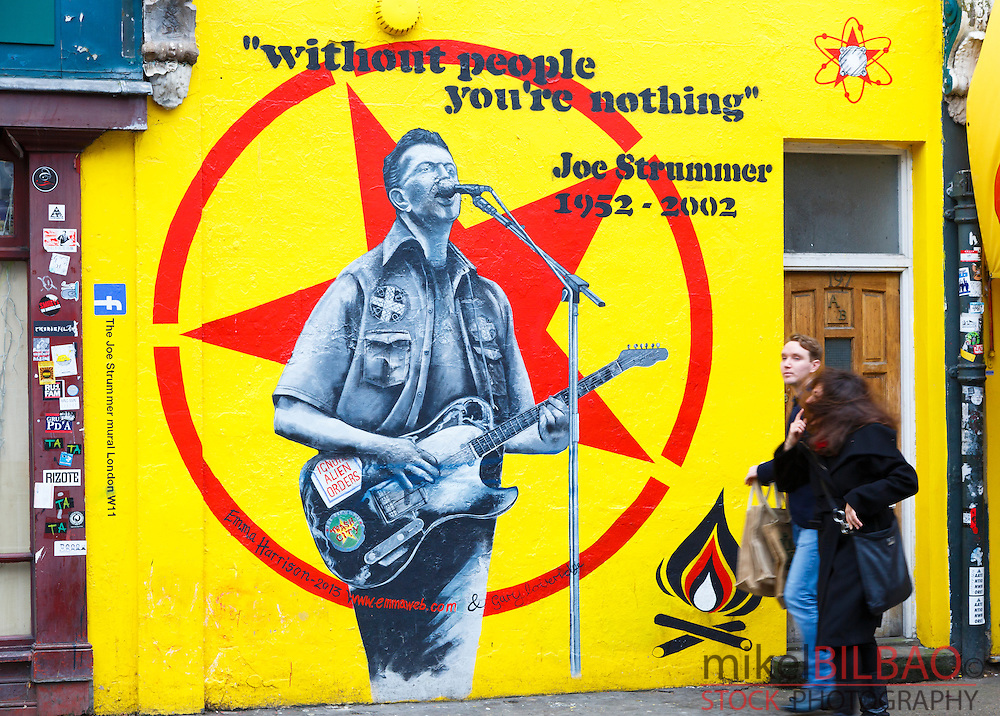 Graffiti. Portobello Market. London, England, United kingdom, Europe.