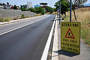 Italy Warning sign - road works ahead