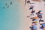 People on Voutoumi Beach, Anti-Paxos, Ionian Islands, Greece
