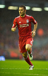 LIVERPOOL, ENGLAND - Thursday, August 19, 2010: Liverpool's Fabio Aurelio in action against Trabzonspor during the UEFA Europa League Play-Off 1st Leg match at Anfield. (Pic by: David Rawcliffe/Propaganda)