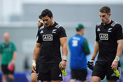 New Zealand U20 players look dejected after the match - Mandatory byline: Patrick Khachfe/JMP - 07966 386802 - 11/06/2016 - RUGBY UNION - Manchester City Academy Stadium - Manchester, England - New Zealand U20 v Ireland U20 - World Rugby U20 Championship 2016.