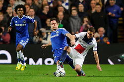 Chelsea Midfielder Frank Lampard (ENG) in action - Photo mandatory by-line: Rogan Thomson/JMP - 07966 386802 - 08/04/2014 - SPORT - FOOTBALL - Stamford Bridge, London - Chelsea v Paris Saint-Germain - UEFA Champions League Quarter-Final Second Leg.
