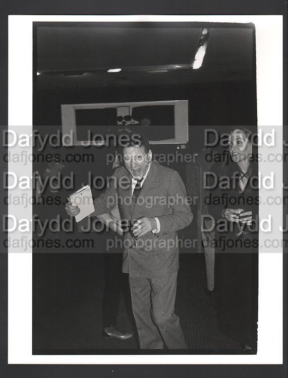 Lucian Freud at Lord Antony Lambton's book party. London 19/9/83. Exhibition in a Box