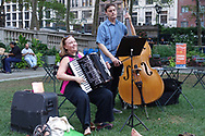 Christina Crowder performing at Bryant Park's Accordions Around the World festival