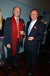 Left to right, brothers SIMON PARKER BOWLES and ANDREW PARKER BOWLES  at a party to celebrate the publication of 'E is for Eating' by Tom Parker Bowles held at Kensington Place, 201 Kensington Church Street, London W8 on 3rd November 2004.<br /><br />NON EXCLUSIVE - WORLD RIGHTS