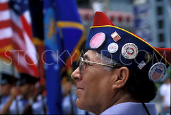 Stock photo of a participant in the Veterans Day Parade in downtown Houston Texas
