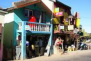 Madagascar, colourful Madgascan Village near Antananarivo
