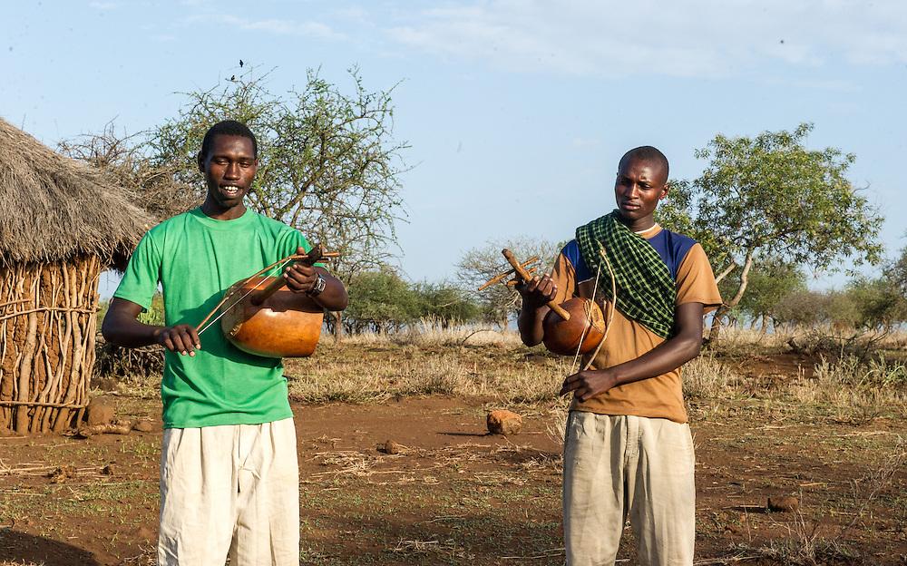 Maasai musicians in Manyara, Tanzania