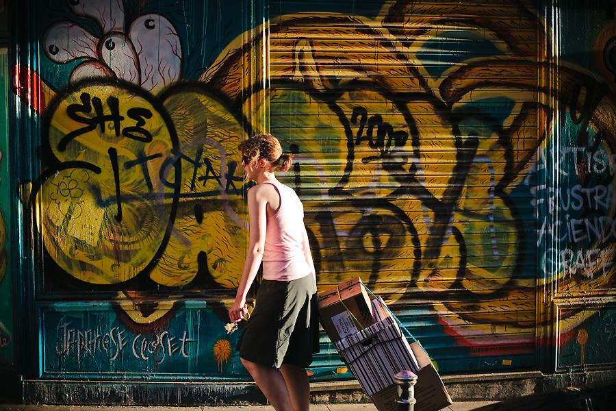 Los graffitis son parte del paisaje urbano de Malasaña.