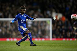 Demarai Gray of Leicester City free kick - Mandatory byline: Jason Brown/JMP - 07966386802 - 10/01/2016 - FOOTBALL - White Hart Lane - London, England - Tottenham v Leicester City - The Emirates FA Cup