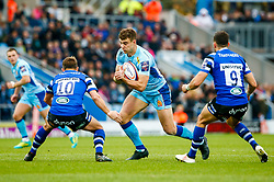 Ollie Devoto of Exeter Chiefs is marked by Alex Davies of Bath Rugby - Mandatory by-line: Ryan Hiscott/JMP - 03/11/2018 - RUGBY - Sandy Park Stadium - Exeter, England - Exeter Chiefs v Bath Rugby - Premiership Rugby Cup