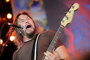 Mastodon performing at the Rockstar Mayhem Festival in St. Louis. July 23, 2008. © Todd Owyoung/Retna Ltd.