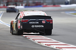 September 27, 2018 - Concord, North Carolina, United States of America - Ryan Preece (18) races down the back straightaway during practice the Drive for the Cure 200 at Charlotte Motor Speedway in Concord, North Carolina. (Credit Image: © Chris Owens Asp Inc/ASP via ZUMA Wire)
