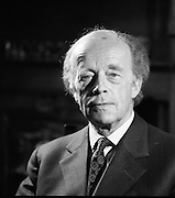 Erskine Childers At Home.1973..16.04.1973..04.16.1973..16th April 1973..After his nomination as party candidate for Fianna Fail, Mr Erskine Childers was photographed at his home in a relaxed athmosphere.