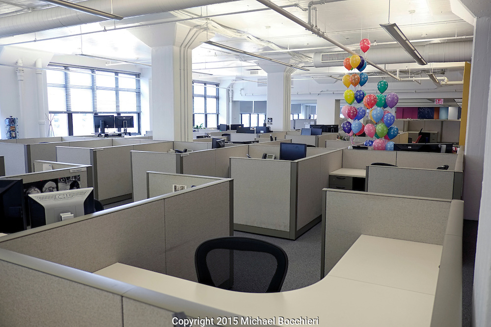 NEW YORK, NY - October 04:  Balloons in an office on October 04, 2015 in NEW YORK, NY.  (Photo by Michael Bocchieri/Bocchieri Archive)