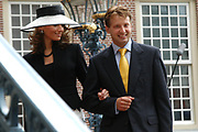 His highness prince Pieter-Christiaan of Oranje Nassau, of Vollenhoven and Ms drs. A.T. van Eijk get married Thursday 25 augusts in Palace the Loo in apeldoorn.<br /> <br /> <br /> Zijne Hoogheid Prins Pieter-Christiaan van Oranje-Nassau, van Vollenhoven en mevrouw drs. A.T. van Eijk treden donderdag 25 augustus in Paleis Het Loo te Apeldoorn in het huwelijk. <br /> <br /> On the photo/Op de foto:<br /> <br /> Zijne Hoogheid Prins Maurits van Oranje-Nassau, van Vollenhoven <br /> Hare Hoogheid Prinses Maril&egrave;ne van Oranje-Nassau, van Vollenhoven