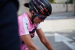 Kasia Niewiadoma (POL) catches her breath after Tour Cycliste Féminin International de l'Ardèche 2018 - Stage 7, a 90.9km road race from Chomerac to Privas, France on September 18, 2018. Photo by Sean Robinson/velofocus.com