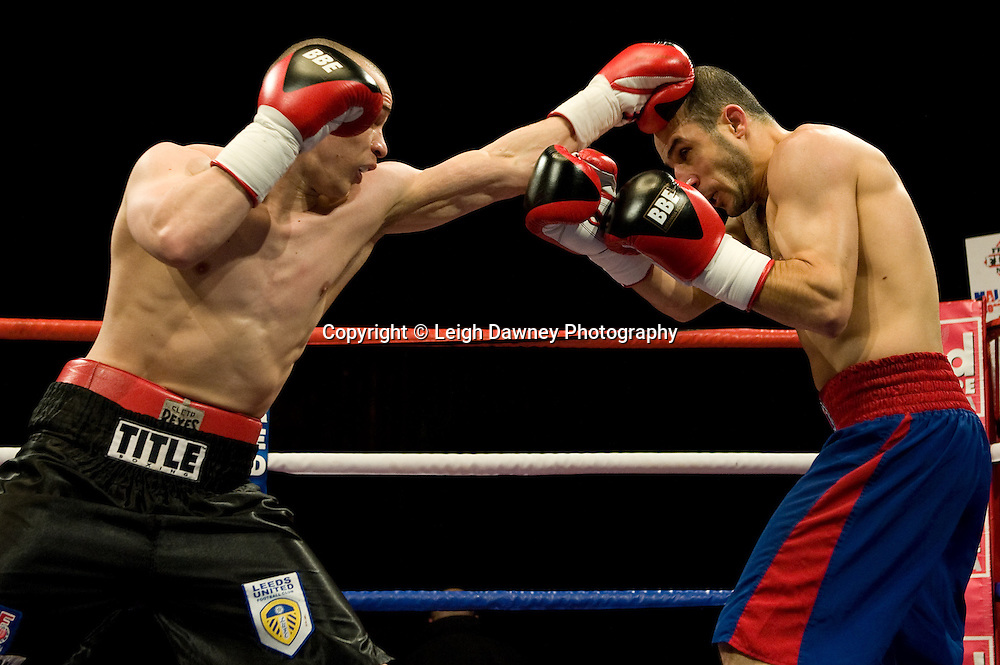 Carl Johanneson (black shorts) defeats Youseff Al Hamidi at the Harvey Hadden Leisure Centre 5th February 2010 Frank Maloney Promotion. Photo credit © Leigh Dawney