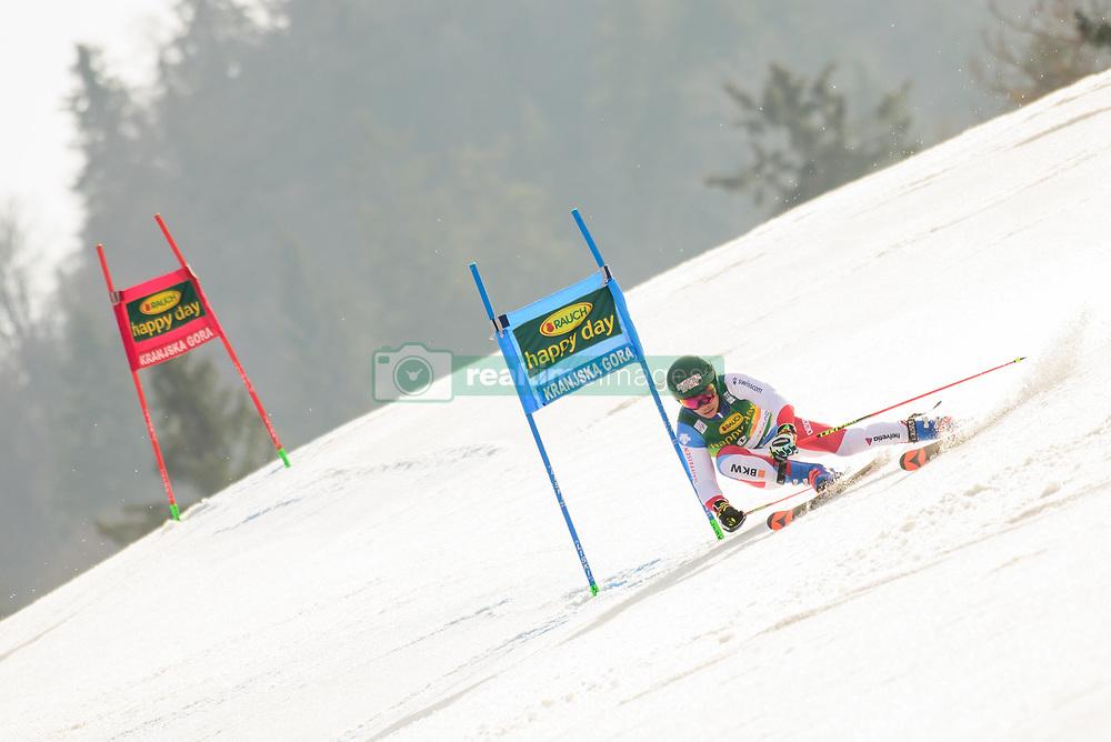 March 9, 2019 - Kranjska Gora, Kranjska Gora, Slovenia - Gino Caviezel of Switzerland in action during Audi FIS Ski World Cup Vitranc on March 8, 2019 in Kranjska Gora, Slovenia. (Credit Image: © Rok Rakun/Pacific Press via ZUMA Wire)