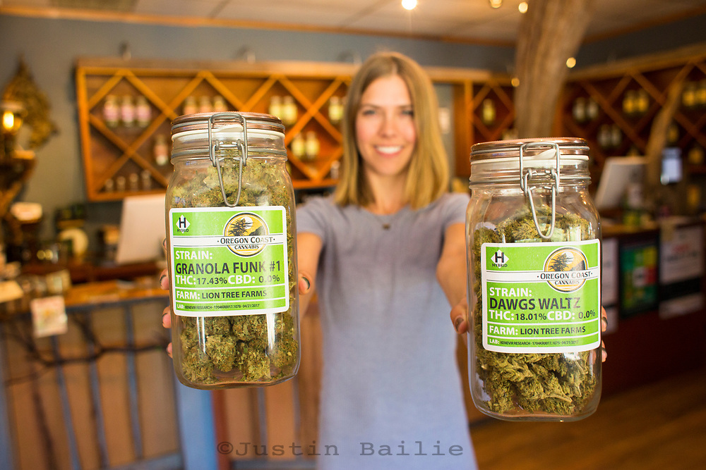Oregon Coast Cannabis, a marajuana dispensary in Manzanita, Oregon.