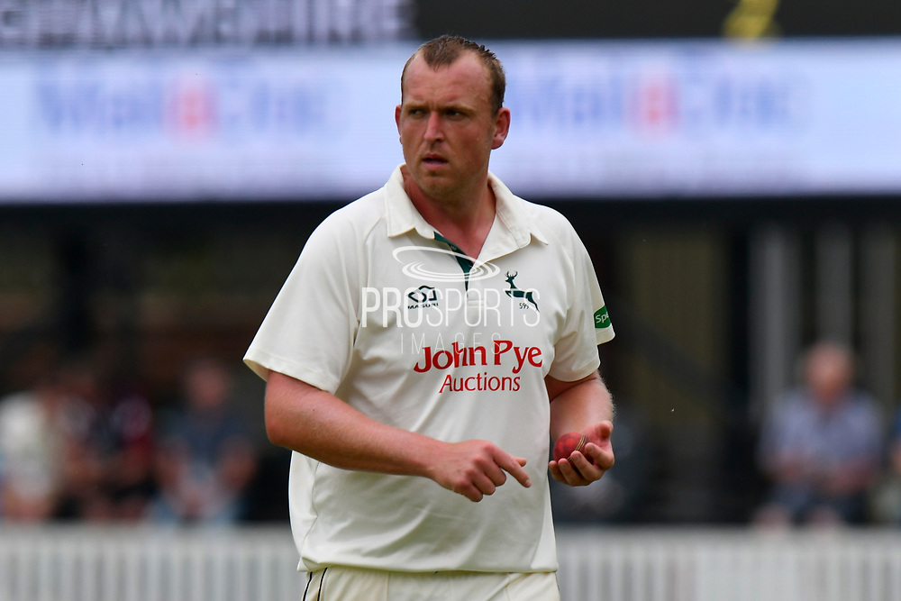 Luke Fletcher of Nottinghamshire during the Specsavers County Champ Div 1 match between Somerset County Cricket Club and Nottinghamshire County Cricket Club at the Cooper Associates County Ground, Taunton, United Kingdom on 10 June 2018. Picture by Graham Hunt.