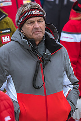 17.02.2019, Aare, SWE, FIS Weltmeisterschaften Ski Alpin, Slalom, Herren, 2. Lauf, im Bild Hans Pum (ÖSV Sportdirektor) // Hans Pum Austrian Ski Association sporting director reacts after his 2nd run of men's Slalom of FIS Ski World Championships 2019. Aare, Sweden on 2019/02/17. EXPA Pictures © 2019, PhotoCredit: EXPA/ Dominik Angerer