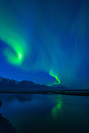 Aurora Borealis over Knik River