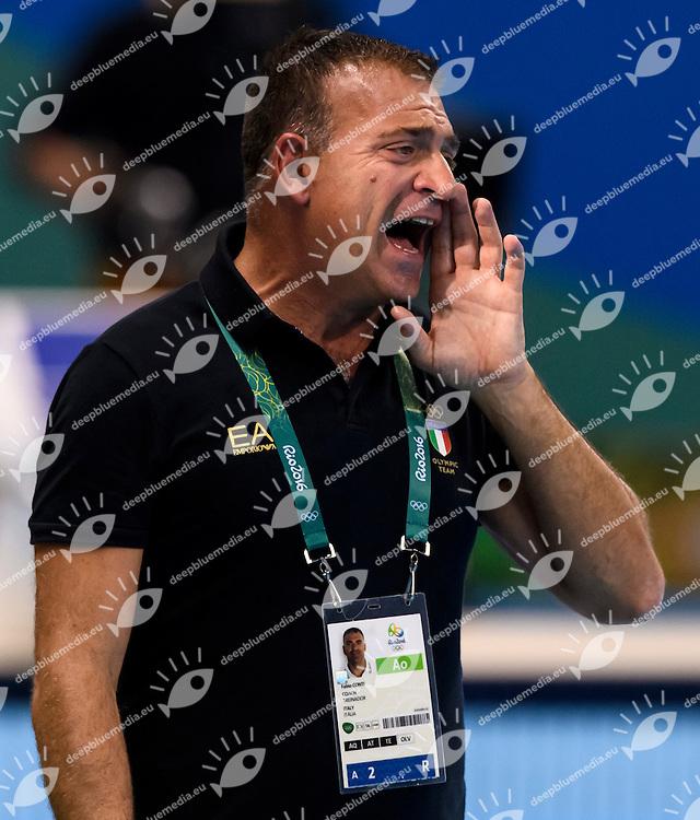CONTI Fabio ITALIA <br /> Rio de Janeiro 19-08-2016 Olympic Aquatics Stadium  - Water Polo <br /> USA - ITALY Final <br />  Foto Andrea Staccioli/Deepbluemedia/Insidefoto