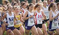 Julie Hambleton of the Western Mustangs runs at the 2014 Western International Cross country meet in London Ontario, Saturday,  September 20, 2014.<br /> Mundo Sport Images/ Geoff Robins