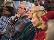16 DECEMBER 2019 - KEOKUK, IOWA: People listen to Sen. Elizabeth Warren during a campaign event in Keokuk, IA, Monday. About 100 people attended the town hall. Warren is campaigning in southeastern Iowa this weekend to support her effort to be the Democratic nominee for the US presidential race in 2020. This was Warren's 185th town hall, and 88th event in Iowa. Iowa traditionally hosts the first presidential selection event of the campaign season. The Iowa caucuses are Feb. 3, 2020.      PHOTO BY JACK KURTZ