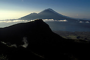 View from Mt Batur at Sunrise, Bali, Indonesia