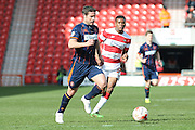 Blackpool midfielder David Norris (19)  during the Sky Bet League 1 match between Doncaster Rovers and Blackpool at the Keepmoat Stadium, Doncaster, England on 28 March 2016. Photo by Simon Davies.