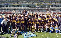 17/09/06 -Bs.As. - Argentina - BOCA Jrs. (0) Vs. GODOY CRUZ Mendoza(0) at Boca Jrs stadium.<br /> Here BOCA Jrs. team celebrating the last week SOUTH AMERICAN RECOPA that win over Sao Paulo.<br /> © Argenpress.com / PikoPress