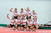 Eton Dorney, Windsor, Great Britain,..2012 London Olympic Regatta, Dorney Lake. Eton Rowing Centre, Berkshire[ Rowing]...Description;  Men's Eights Final..GER.M8+. Filip ADAMSKI (b) , Andreas KUFFNER (2) , Eric JOHANNESEN (3) , Maximilian REINELT (4) , Richard SCHMIDT (5) , Lukas MUELLER (6) , Florian MENNIGEN (7) , Kristof WILKE (s) , Martin SAUER (c))  Dorney Lake. 13:20:25  Wednesday  01/08/2012.  [Mandatory Credit: Peter Spurrier/Intersport Images].Dorney Lake, Eton, Great Britain...Venue, Rowing, 2012 London Olympic Regatta...