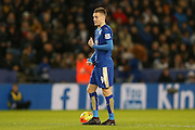 Leicester City forward Jamie Vardy  waits to take the kick off during the Barclays Premier League match between Leicester City and Manchester City at the King Power Stadium, Leicester, England on 29 December 2015. Photo by Simon Davies.