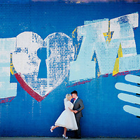 Matt and Alison's wedding portrait session in Chicago's Logan Square.