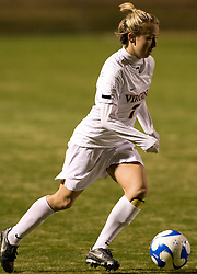 Virginia forward/midfielder Caitlin Miskel (7)..The Virginia Cavaliers defeated the Loyola (MD) Greyhounds 4-1 in the first round of the NCAA Women's Soccer tournament held at Klockner Stadium in Charlottesville, VA on November 16, 2007.