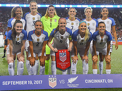 September 19, 2017 - Cincinnati, OH, USA - Cincinnati, OH - Tuesday September 19, 2017: US. Women's National team starting eleven vs New Zealand during an International friendly match between the women's National teams of the United States (USA) and New Zealand (NZL) at Nippert Stadium. (Credit Image: © Brad Smith/ISIPhotos via ZUMA Wire)