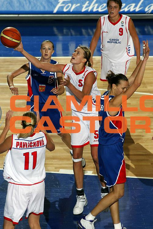DESCRIZIONE : Ankara Eurobasket Women 2005 Rep Ceca-Russia Finale<br /> GIOCATORE : Vecerova<br /> SQUADRA : Repubblica Ceca Czech Republic<br /> EVENTO : Eurobasket Women 2005 Campionati Europei Donne 2005<br /> GARA : Repubblica Ceca Russia Czech Republic Russia<br /> DATA : 11/09/2005<br /> CATEGORIA :<br /> SPORT : Pallacanestro<br /> AUTORE : Ciamillo&amp;Castoria/Fiba Europe