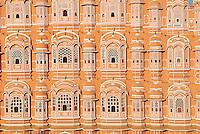 Inde, Rajasthan, Jaipur, le Palais des Vents (Hawa Mahal) // India, Rajasthan, Jaipur, Wind Palace (Hawa Mahal).