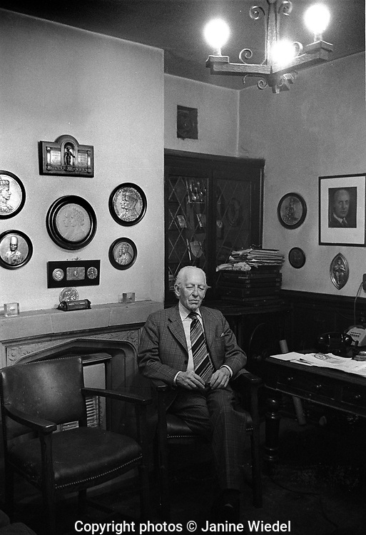 Stewart Simpson at Turner and Simpson  Birmingham Medal company a silversmiths and enamellers in Birmingham's Jewellery Quarter in the 1970s