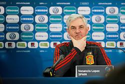 Venacio Lopez, head coach of Spain at press conference before final of UEFA Futsal EURO 2018, on February 9, 2018 in Arena Stozice, Ljubljana, Slovenia. Photo by Urban Urbanc / Sportida