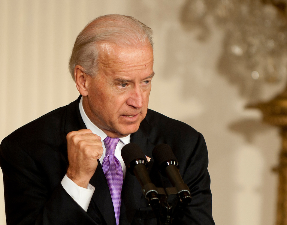 Oct 27, 2010 - Washington, District of Columbia, U.S. - Before an audience comprised of advocates, women's and fatherhood groups, faith leaders and law enforcement agencies Vice President JOE BIDEN delivers remarks in the East Room at the Domestic Violence Awareness Month event.  .(Credit Image: © Pete Marovich/ZUMA Press)