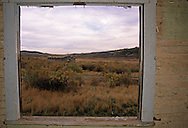 Old homestead site in the C.M. Rissell National Wildlife Refuge. Missouri River Breaks, Montana