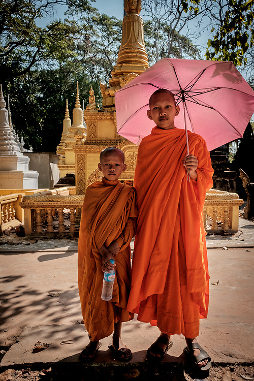 Young friends in beautiful Cambodia