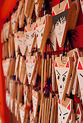 Foxes at Fushimi Inari are the guardians of shrines and the messagers from the gods.
